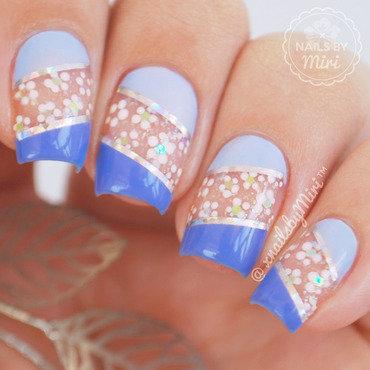 Negative Space Flower Nails nail art by xNailsByMiri