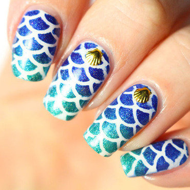 Mermaid nails nail art by Tribulons
