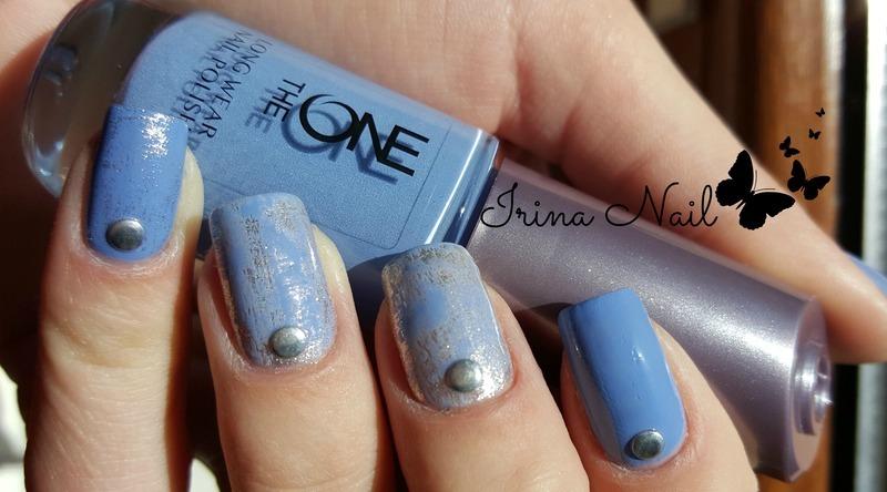 Blue manicure 2 nail art by Irina Nail