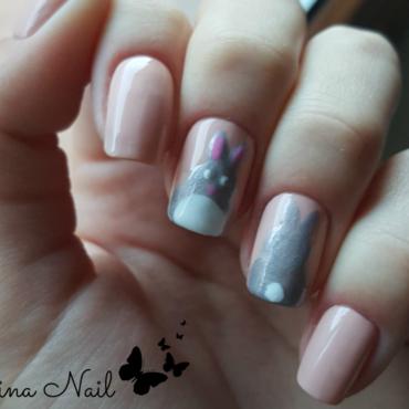 Rabbit nail art nail art by Irina Nail