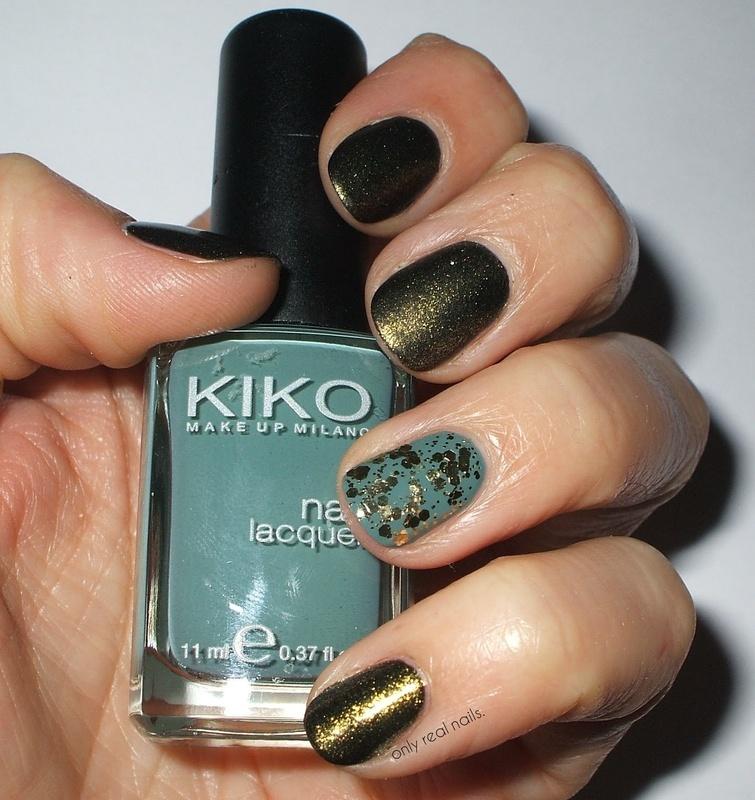 Dark green nail art by only real nails.