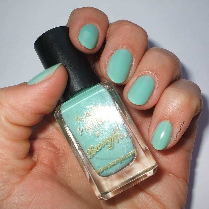 Barry M Mint Green Swatch by only real nails.
