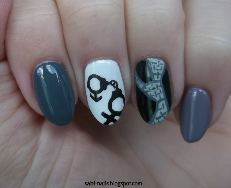 Day 23: Inspired by a movie nail art by Sabina
