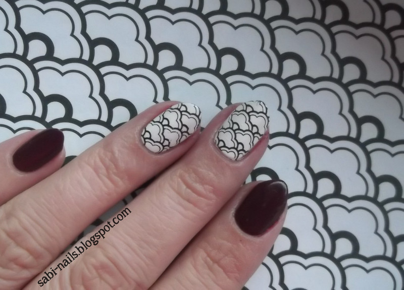 Day 26: Inspired by a pattern nail art by Sabina