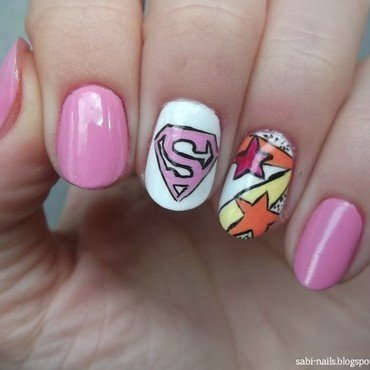 Day 29: Inspired by supernatural SUPERWOMAN nail art by Sabina