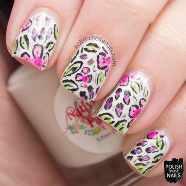 Watercolor florals pattern nail art 4 thumb370f