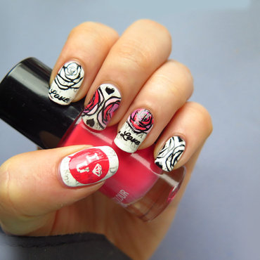 Love Letter nail art by theCieniu