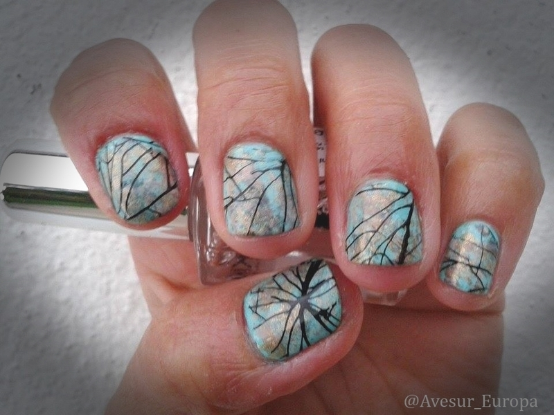 Stone Nails for a Rainy Forecast nail art by Avesur Europa