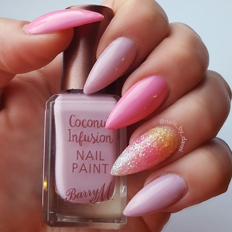 Glitter ombre nail art by Danielle  Hails