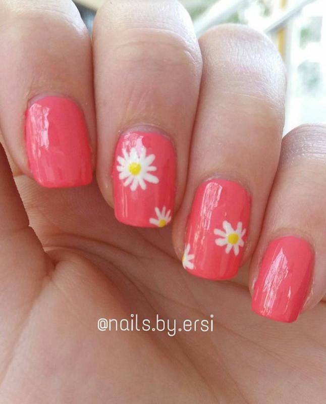 Flowery Design nail art by NailsByErsi