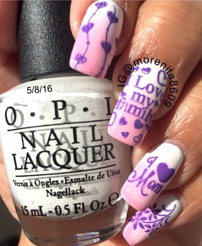 Happy Mother's Day nail art by Morenita  Morena