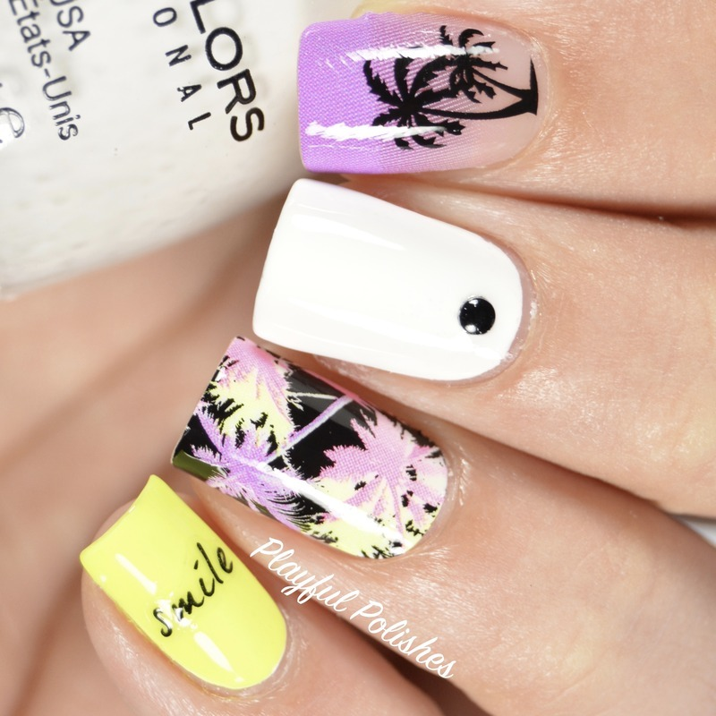 Palm Tree Nail Bliss Nail Pop Appliqués nail art by Playful Polishes