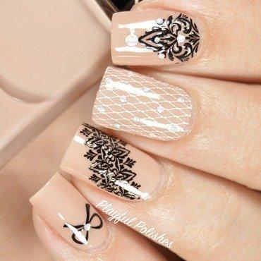 Lace Nail Bliss Nail Pop Appliques nail art by Playful Polishes