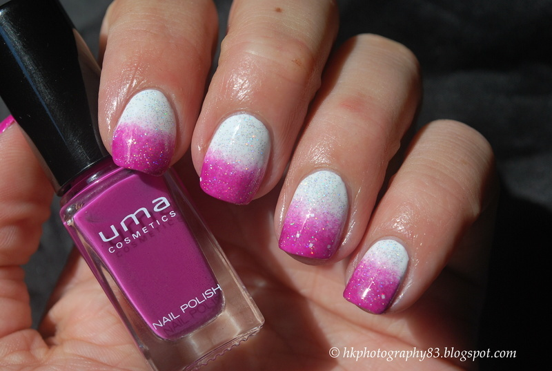 First ombre nails nail art by Hana K.