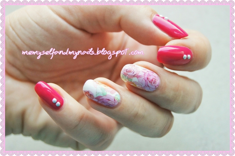 Rosy nail art by ELIZA OK-W