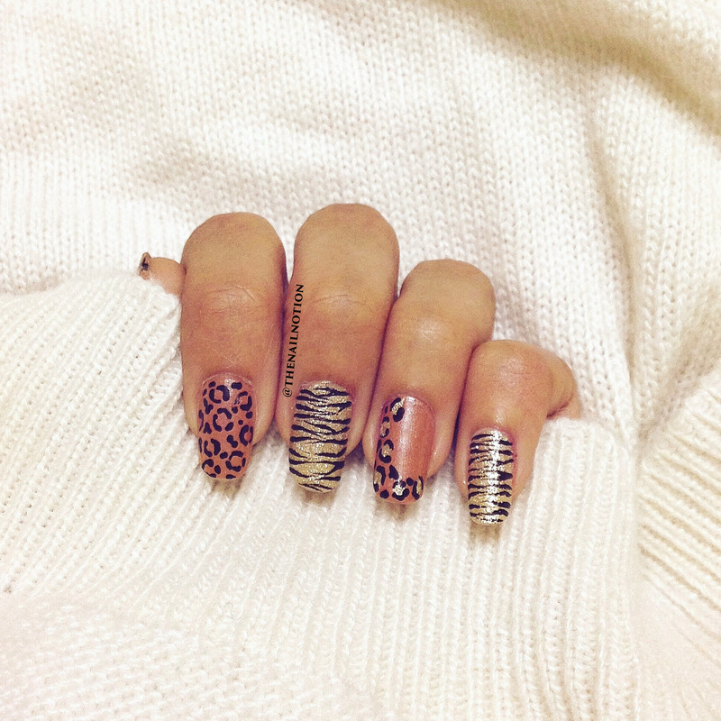 Metallic Animal Print Nail Art nail art by Letisha  Fernandes