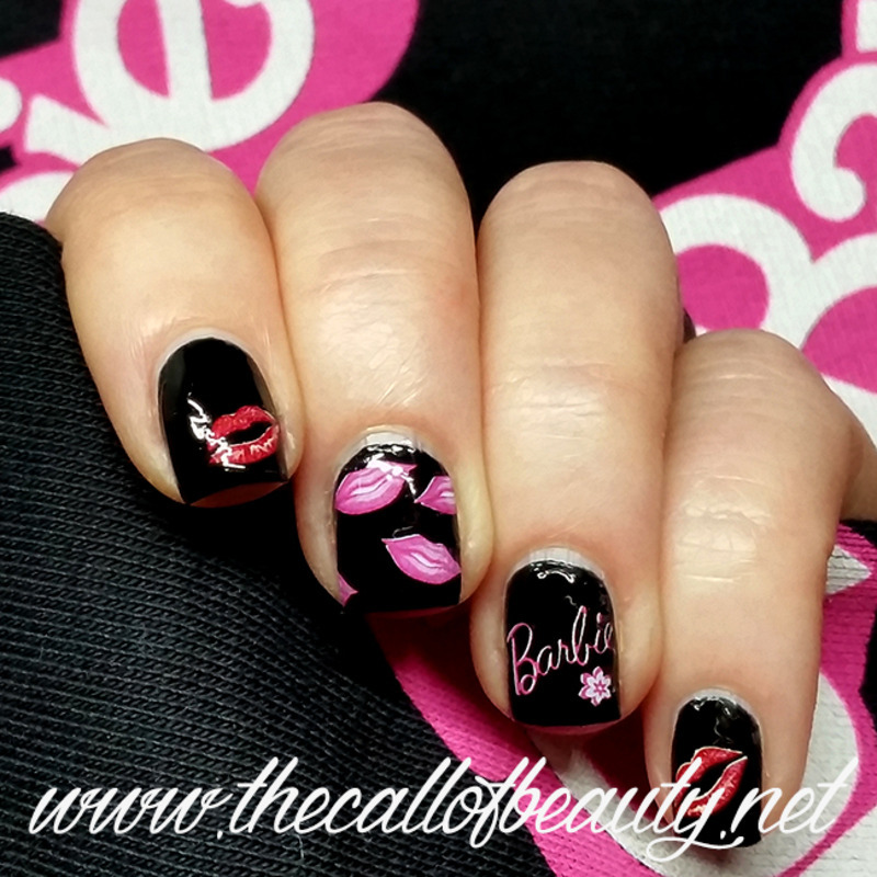 Barbie Manicure nail art by The Call of Beauty