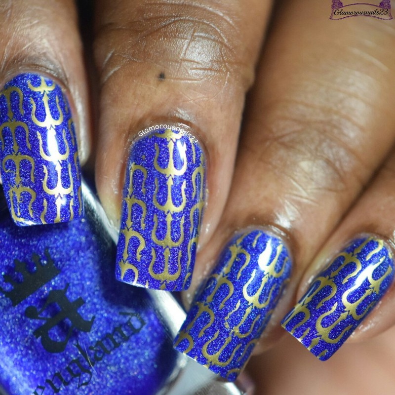 Tridents nail art by glamorousnails23