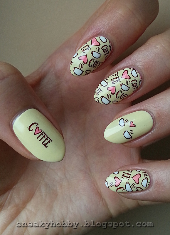 Coffee Addict Manicure - Part 3 nail art by Mgielka M