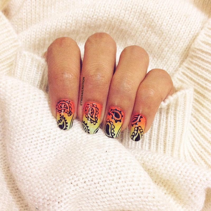 Ombré Paisley Nail Art nail art by Letisha  Fernandes