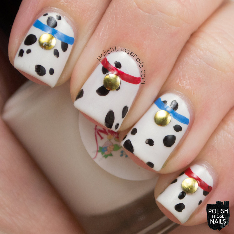 Over Sized Dalmatians nail art by Marisa  Cavanaugh
