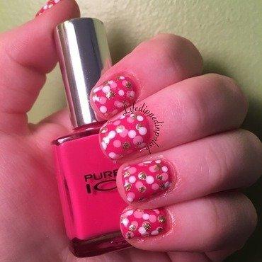 Pink Polka Dots nail art by lifedippedinpolish