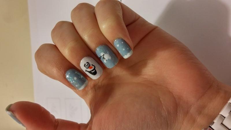 Winter Olaf nails nail art by Maya Harran