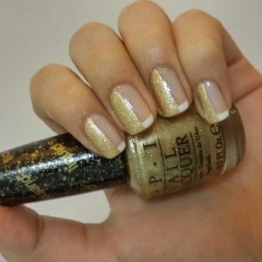 Classic with a twist  nail art by Maya Harran