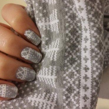 Winter Grey nail art by Maya Harran