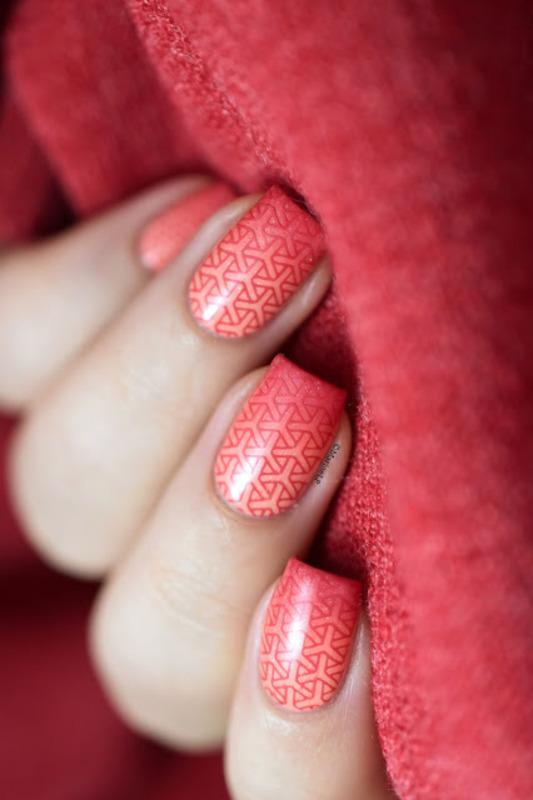 Gradient & stamping nail art by Marine Loves Polish
