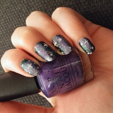 Galaxy nail art by Maya Harran