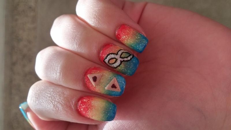 Purim Holiday nail art by Maya Harran