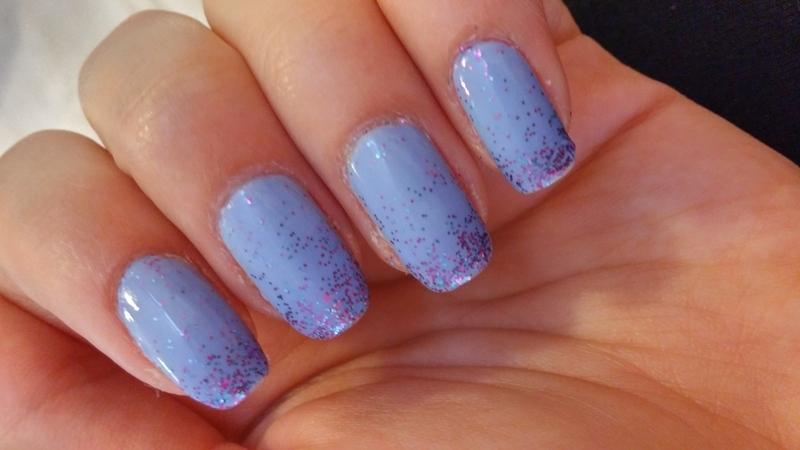 glitter gradient nail art by Maya Harran