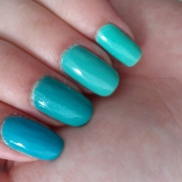 Essie Turquoise & Caicos, Essie Naughty Nautical, and Rimmel sky high Swatch by Maya Harran