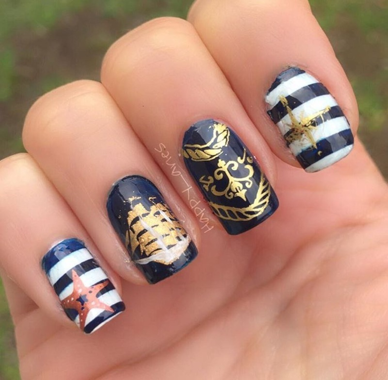 Come sail away with me nail art by Happy_aries