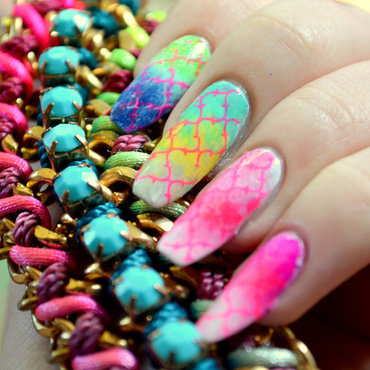 Return of The Rainbows nail art by girlchickbetty