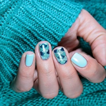 Fish scales  nail art by Romana