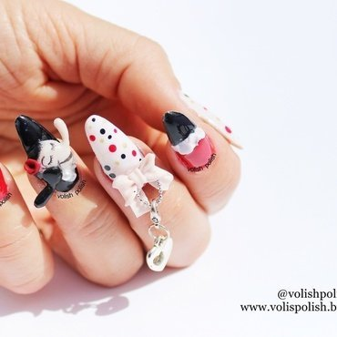 Cheap and chic nail art design nail art by Volish Polish