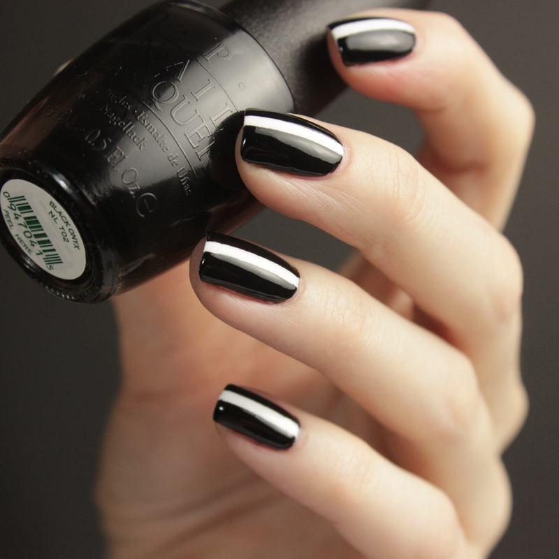 Black&White nail art by Tine