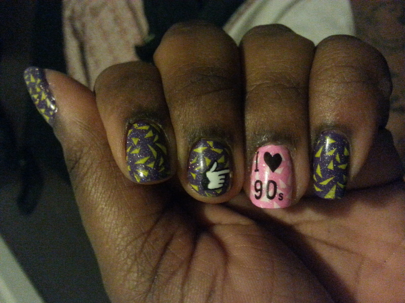 I <3 the 90's nail art by momo