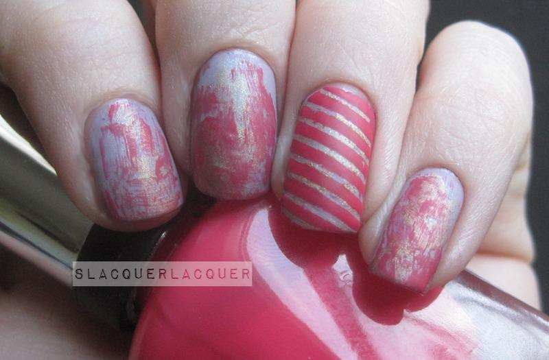 Girly Grunge nail art by Tina