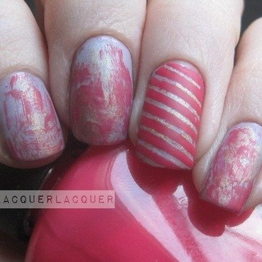 Girly Grunge nail art by Tina