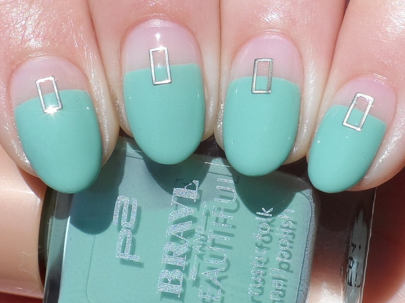 Negative Space nail art by Plenty of Colors