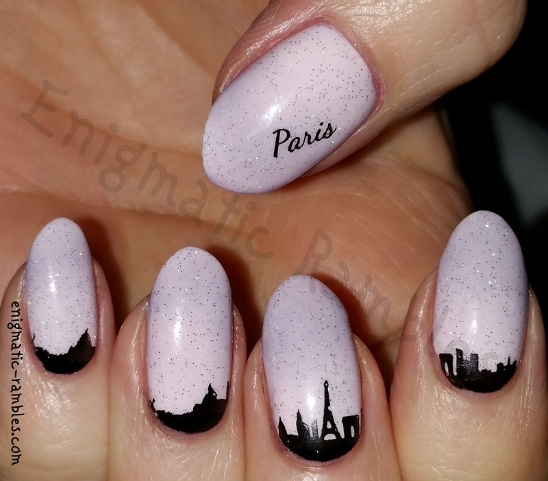 Paris Skyline Nails nail art by Enigmatic Rambles