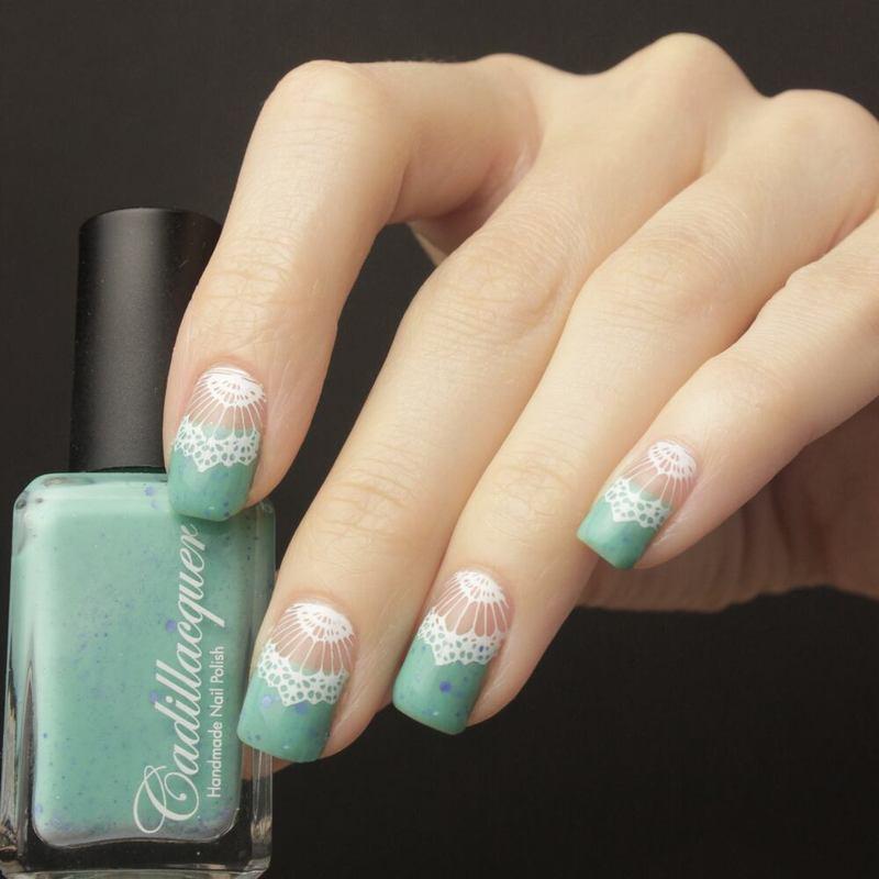 Lace nail art by Tine