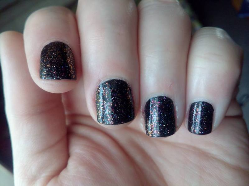 Essie Liquorice, Fun Lacquer Precious, and ILNP My Private Rainbow ( X ) Swatch by Stephanie