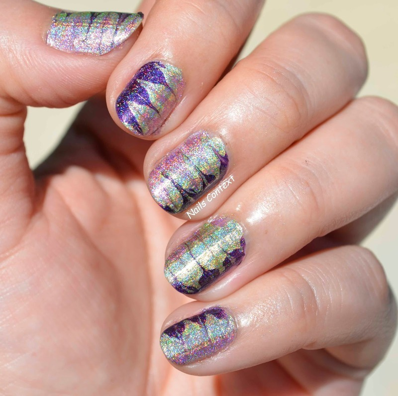 Holo Drag Nails nail art by NailsContext