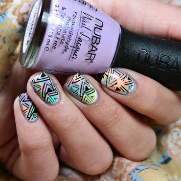 Nail art with Garb & Glam collection by Nubar nail art by Romana