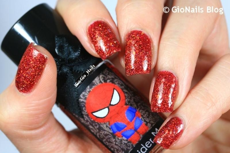 Esmaltes  Da Kelly Spider Man Swatch by Giovanna - GioNails