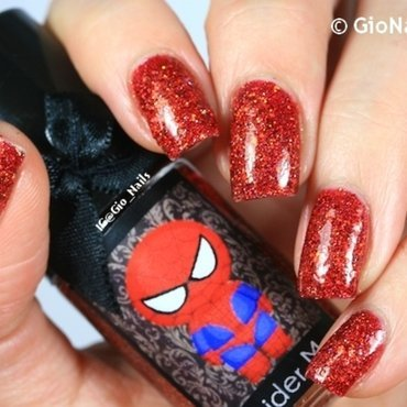 Esmaltes  Da Kelly Spider Man Swatch by Giovanna - GioNails